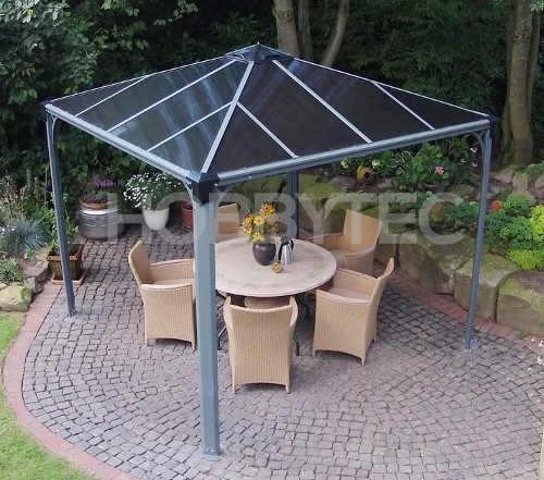 Hliníkový zahradní altán s polykarbonátovou střechou