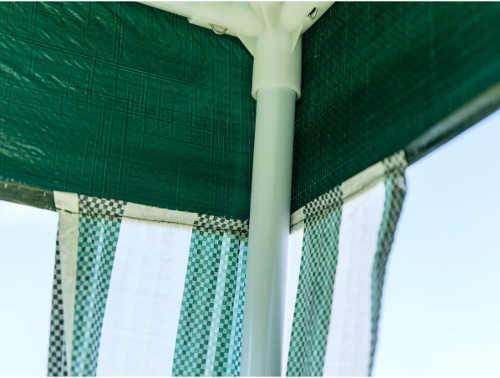 Klasický párty stan 3 x 3 m v zeleném barevném provedení párty stany přístřešky