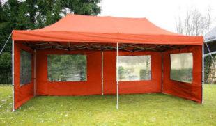 Profi nůžkový párty stan 3 x 6 m oranžová barva