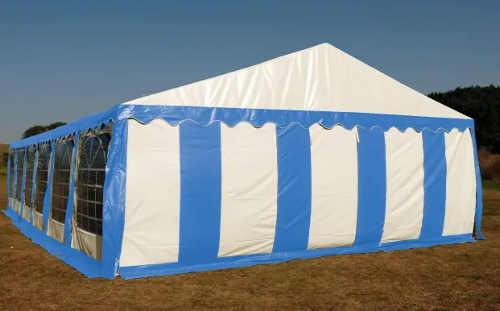 Pruhovaný velký párty stan 4 x 8 m