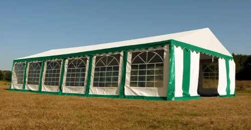 Prvotřídní zeleno-bílý party stan Premium 6 x 12 m