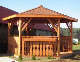 Šestiúhelníkový dřevěný altán PANAMA - ruzné velikosti a barevné provedení