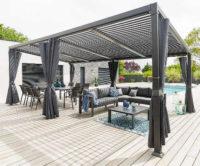 Velká luxusní hliníková terasová pergola k domu 7,2x3 m