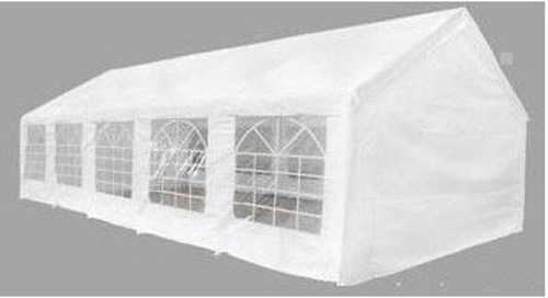 Velký bílý zahradní párty stan s osmi okny