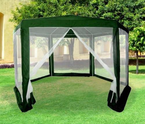 Šestiúhelníkový párty stan na zahradu