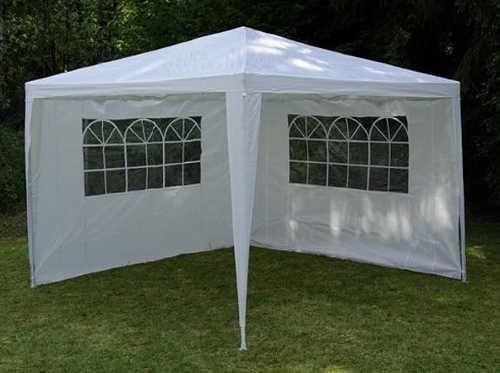 Bílý zahradní párty stan 3 x 3 m + 2 boční stěny výprodej