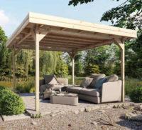 Dřevěná zahradní pergola 3,5 x 3,5m