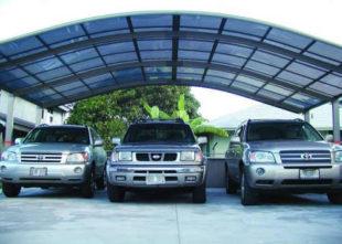 Hliníkový přístřešek pro tři auta PJR XXL