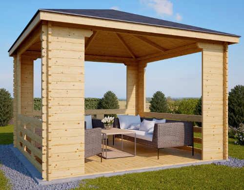 Levný dřevěný zahradní altán KOCHAB 4x4m