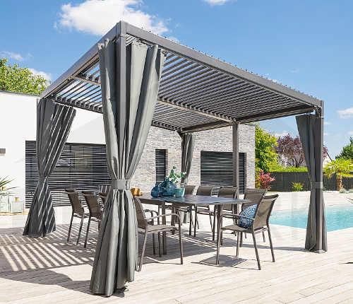 Luxusní altán na zahradu s otvíratelnou střechou