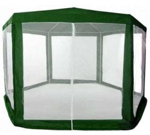 Menší zelený zahradní altán 2x2x2 m s moskytierou
