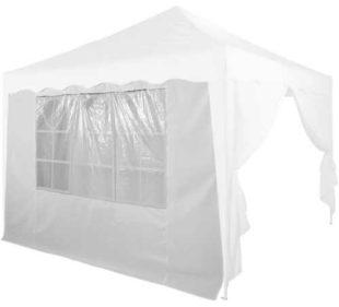 Náhradní bílá boční stěna s oknem k nůžkovému párty stanu