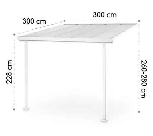 Pergola pro zastřešení terasy 3 x 3 metry