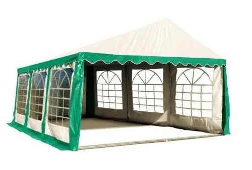 Stabilní párty stan 3 x 6 m zeleno bílém barevném provedení