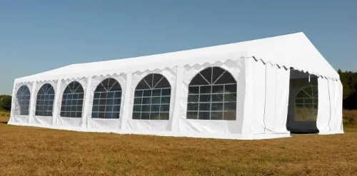 Velký párty stan 6 x 12 m v bílém provedení