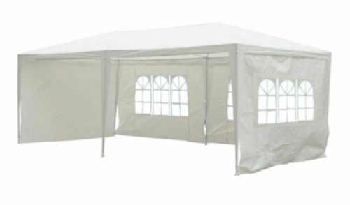 Cenově dostupný bílý zahradní párty stan 3 x 6 m