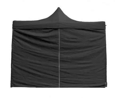 Černý výstavní stánek s nůžkovou konstrukcí
