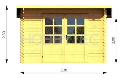 Dřevěný zahradní domek stavebnice