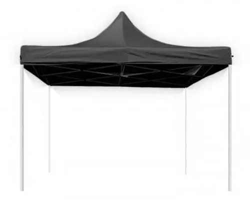 Jednoduchý nůžkový párty stan 3 x 3 metry bez bočnic a s černou střechou