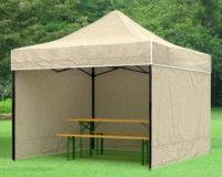 Menší párty stan 2 x 2 m k zahradnímu posezení