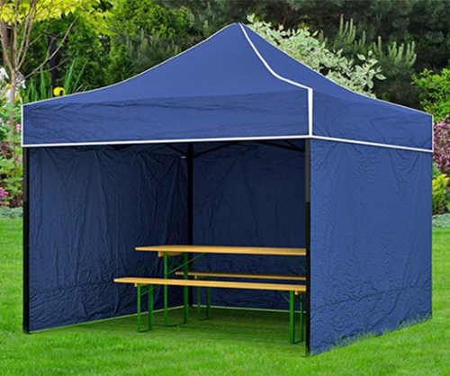Modrý nůžkový zahradní párty stan 2 x 2 m