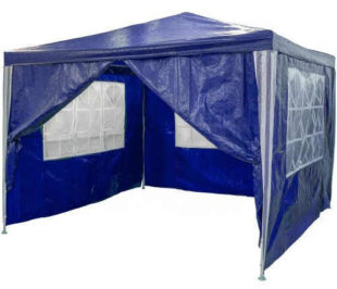 Zahradní párty stan - modrý 3 x 3 m se čtyřmi boční díly