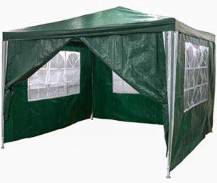 Zahradní párty stan zelený 3 x 3 m s klasickou kontrukcí