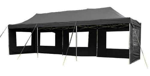 Černý skládací zahradní párty stan PROFI - 3 x 9 m