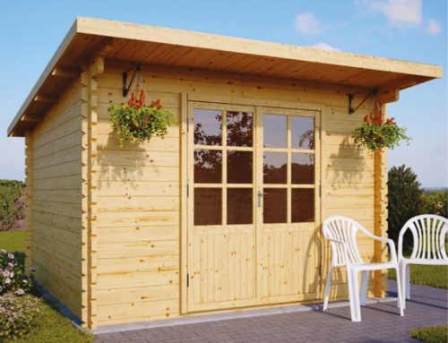 Dřevěná zahradní chatka FREDERIC 9 m²
