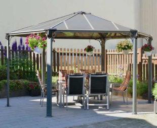 Moderní zahradní hliníkový altán ACRAB 4,5x3,9 m