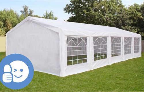 Skládací altán 4 x 10 m pro zahradní svatby