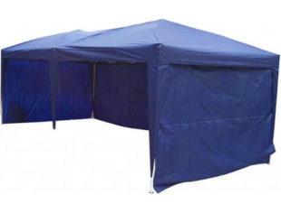 Velký modrý skládací prodejní stánek 3x6m