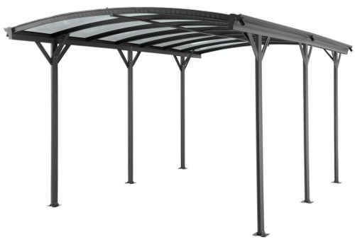 Hliníkový přístřešek na auto s polykarbonátovou střechou