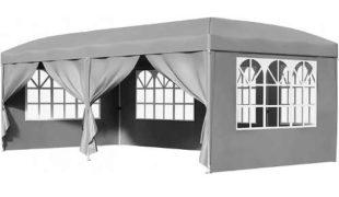 Šedý zahradní stan TRELLO 3x3m