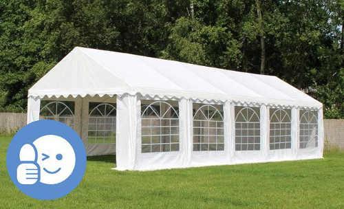 Velký bílý zahradní párty stan ECONOMY 6 x 12 m