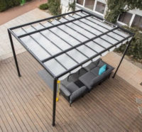Terasová hlíníková střecha