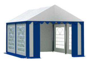 Zahradní párty stan 4x4 m v modro-bílém provedení