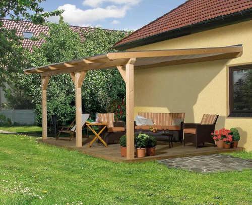 praktický zahradní altán ke zdi