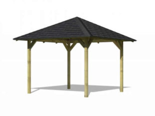 Zahradní altán se šindelovou střechou