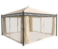 Pergola 4x4 m s boční stěnou v elegantním designu