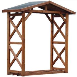 Zastřešený přístřešek na dřevo