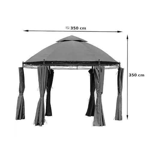 šedý pavilon v elegantním designu