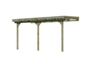 Praktická dřevěná pergola ke zdi