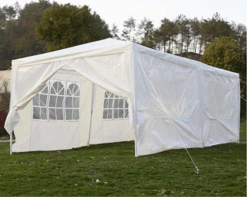 bílý zahradní nepromokavý stan