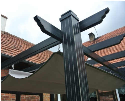 kovová zahradní moderní pergola