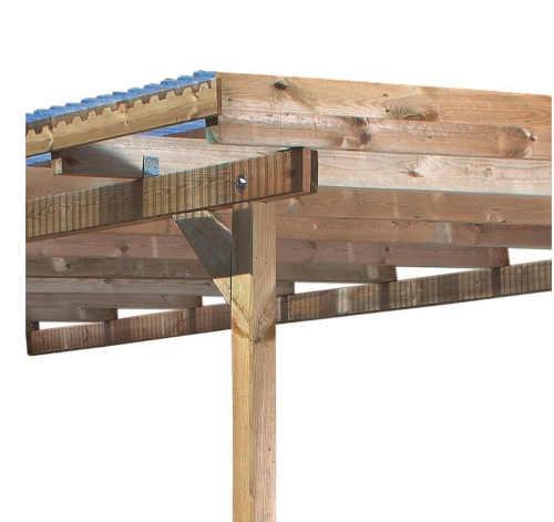 pergola z borovicového dřeva