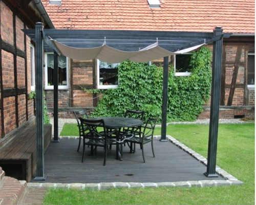 zahradní pergola v moderním designu